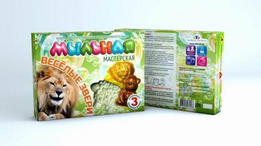 Набор для изготовления мыла Инновации для детей Мыльная Мастерская: Веселые звери от 7 лет 748 набор инновации для детей мастерская космос ароматизированные