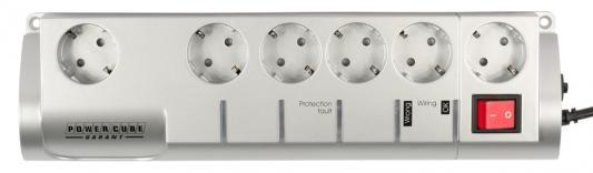 Сетевой фильтр Power Cube SIS-2-10 Garant белый 6 розеток 3 м сетевой фильтр power cube garant 5 1 socket 3m grey sis 2 10