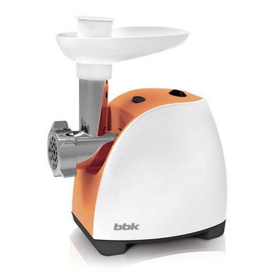 Электромясорубка BBK MG1601 400 Вт белый оранжевый черно-серебристый