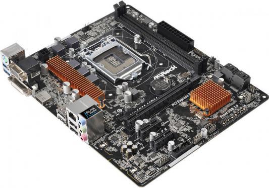 Мат. плата для ПК ASRock H110M-HDV Socket 1151 H110 2xDDR4 1xPCI-E 16x 2xPCI-E 1x 4xSATAIII mATX Retail