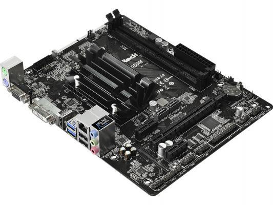 Мат. плата для ПК ASRock N3050M с процессором Intel 2xDDR3 1xPCI-E 16x 2xPCI-E 1x 2xSATAIII mATX Retail