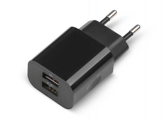 Сетевое зарядное устройство Jet.A UC-Z14 2 х USB 2.1A черный