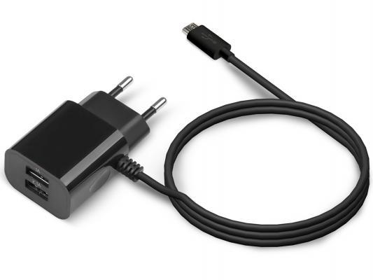 Сетевое зарядное устройство Jet.A UC-S14 2 х USB 2.1A черный