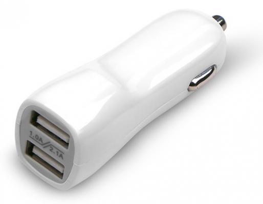 Автомобильное зарядное устройство Jet.A UC-Z17 2х USB 2.1A белый цена и фото