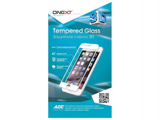 Защитное стекло ONEXT для Samsung Galaxy S6 Edge 2.5D закругленное с рамкой белый 41024