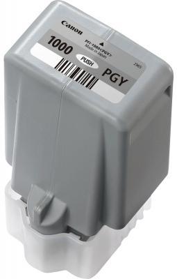 Картридж Canon PFI-1000 PGY для IJ SFP PRO-1000 WFG фото серый 0553C001