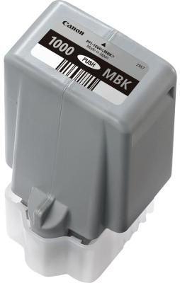 Картридж Canon PFI-1000 MBK для IJ SFP PRO-1000 WFG матовый черный 0545C001 canon pfi 206 mbk matte black