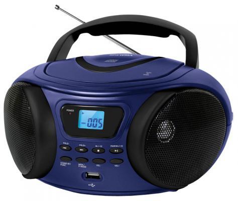 Магнитола BBK BX170BT синий аудиомагнитола bbk bx170bt темно синий bx170bt темно синий