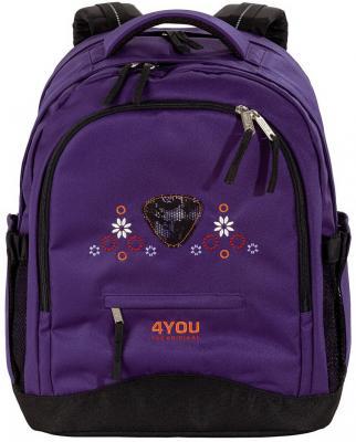 Школьный рюкзак ортопедический 4YOU compact Кружево 30 л фиолетовый 112901-419 цена и фото
