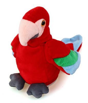 Мягкая игрушка попугай Fluffy Family повторяшка текстиль красный 16 см 681020