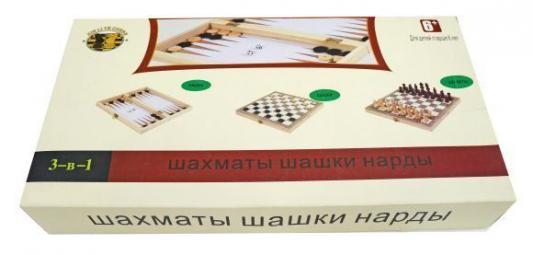 Настольная игра логическая 3 в 1 Шахматы, шашки, нарды W3418-4