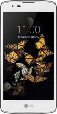 Смартфон LG K8 белый 5 16 Гб LTE Wi-Fi GPS K350E tampax cef тампоны женские гигиенические с аппликатором super duo 16 шт