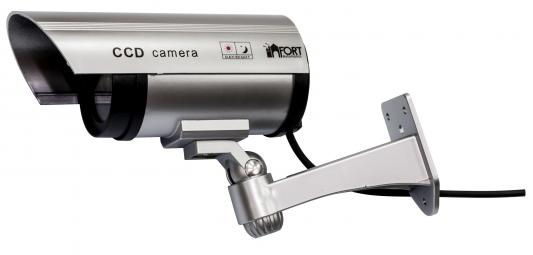 Муляж камеры видеонаблюдения FORT Automatics DC-027 наружное исполнение, красный светодиод RET фиолетовая коробка фальш камера fort automatics dc 027