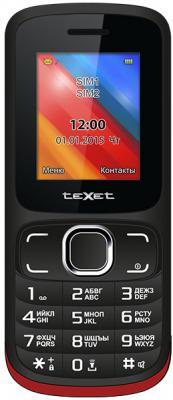 """Мобильный телефон Texet TM-125 черный красный 1.77"""""""