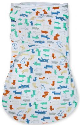 Конверт для пеленания на липучке размер L Summer Infant Wrap Sack (собачки/54160)