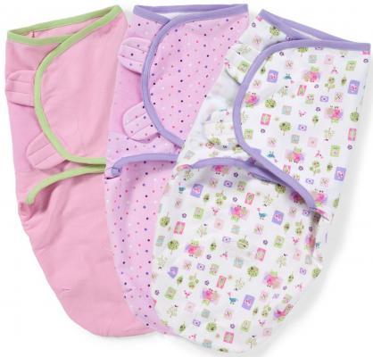 Конверты для пеленания на липучке размер S/M 3 шт. Summer Infant Swaddleme (розовый с совами) гель для душа ahava deadsea water mineral shower gel объем 200 мл