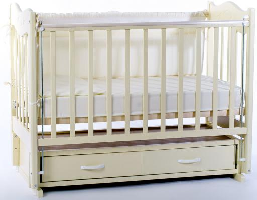 Кроватка с маятником Ведрус Милена (белая)