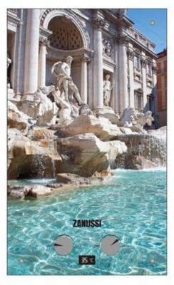 Водонагреватель проточный Zanussi GWH 10 Fonte Glass Trevi 18.5 кВт