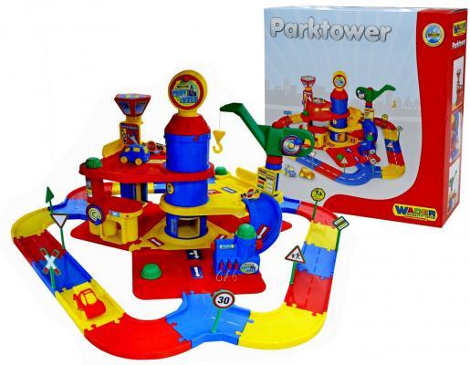 Купить Паркинг Wader 3-уровневый с дорогой и автомобилями 37862, Гаражи, парковки, треки