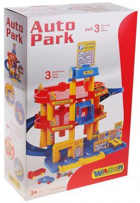 Паркинг Wader 3-уровневый с автомобилями 37893 машины wader автомобиль констрак полиция