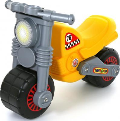 Каталка-мотоцикл Wader Моторбайк желтый от 18 месяцев пластик 37923