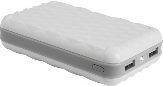 Портативное зарядное устройство Defender ExtraLife Losange 5V/1A+2.1A 2xUSB 20000 mAh белый 83623