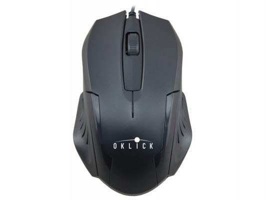 Мышь проводная Oklick 255M чёрный USB
