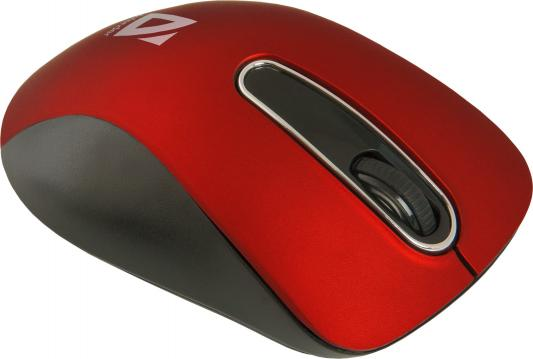 цены на Мышь беспроводная Defender Datum MM-075 красный USB 52076 в интернет-магазинах