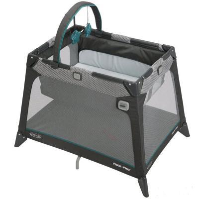 Манеж-кроватка Graco Nimble Nook (серый с узором бортика) (GRACO)