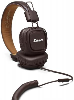 Наушники Marshall Major II Android коричневый 04091112 marshall major ii steel edition