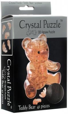 Головоломка CRYSTAL PUZZLE Мишка янтарный старше 10 лет 90214