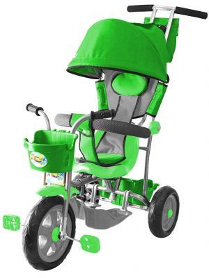 Велосипед Rich Toys Galaxy Лучик с капюшоном зеленый 5595/Л001 велосипед r toys galaxy лучик с капюшоном фиолетовый трехколёсный 5598 л001
