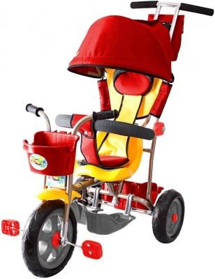 Велосипед Rich Toys Galaxy Лучик с капюшоном красный Л001 велосипед r toys galaxy лучик с капюшоном фиолетовый трехколёсный 5598 л001
