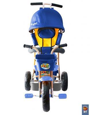 Велосипед RT Galaxy Лучик с капюшоном синий с капюшоном и ручкой Л001