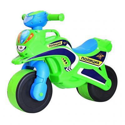 Беговел RT MOTOBIKE Police 138 5477 зелено-синий