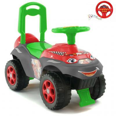 Каталка-машинка R-Toys Автошка 013117/01К от 2 лет пластик зелено-красная 5561