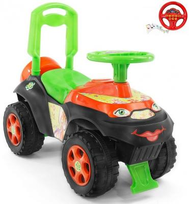 Каталка-машинка Rich Toys Автошка Винкс от 2 лет пластик зелено-оранжевая 013117/01К