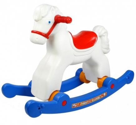 Каталка-качалка R-Toys Лошадка трансформер белый от 8 месяцев пластик 5570/ОР146