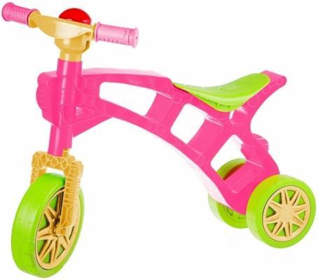 Беговел Rich Toys Самоделкин зелено-розовая 3220