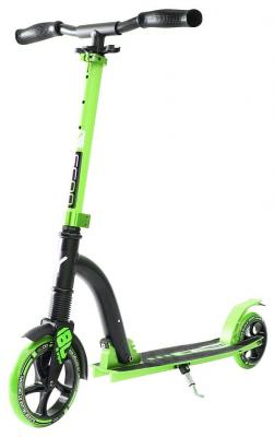 Самокат Y-SCOO RT 180 Slicker с амортизатором Deluxe зеленый ледянка rt 2 пластик зеленый