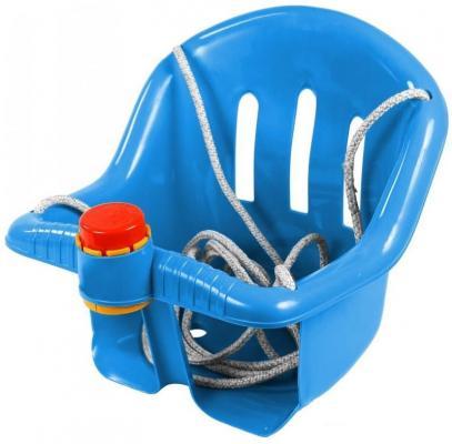 ОР757 Качели с барьером безопасности, с клаксоном синие