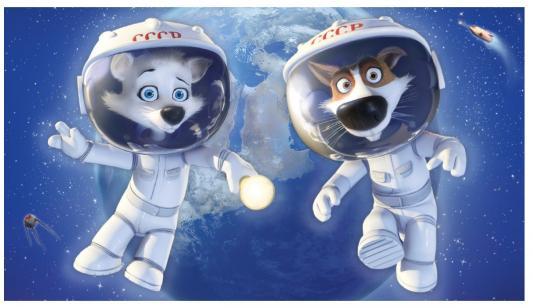 Раскраска по номерам МАСТЕР-КЛАСС Звездные собаки от 5 лет МК 144-01