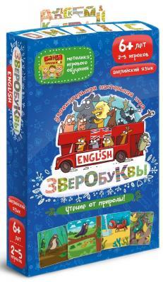 Настольная игра Банда Умников развивающая Зверобуквы English УМ043