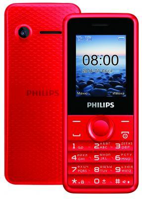 """Мобильный телефон Philips E103 красный 1.77"""""""