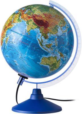 Глобус Земли физико-политический с подсветкой 250 серия Евро Globen Ке012500191 глобус globen d 21см земли физико политический с подсветкой серия классик евро