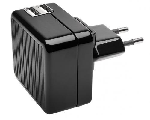 Сетевое зарядное устройство Kensington K39690EU 2х USB 2.1A черный