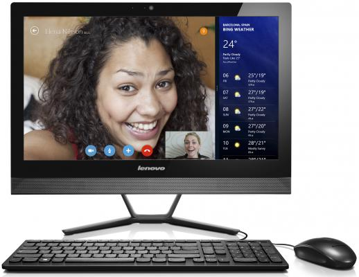 "Моноблок 23"" Lenovo IdeaCentre C50-30 1920 x 1080 Intel Core i3-4005U 4Gb 500Gb nVidia GeForce 820A 2048 Мб Windows 8.1 черный F0B100GDRK"
