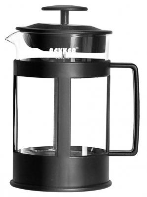 Чайник заварочный Bekker Deluxe BK-369 чёрный прозрачный 0.8 л пластик/стекло чайник заварочный bekker 308 вк 1 25 л пластик стекло фиолетовый