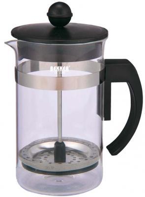 Картинка для Чайник заварочный Bekker Deluxe BK-389 прозрачный 0.6 л пластик/стекло