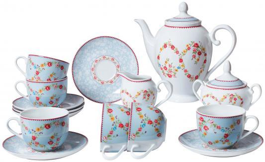 Сервиз чайный Bekker BK-7143 15 предметов 6 персон сервиз чайный bekker bk 7146 15 предметов 6 персон
